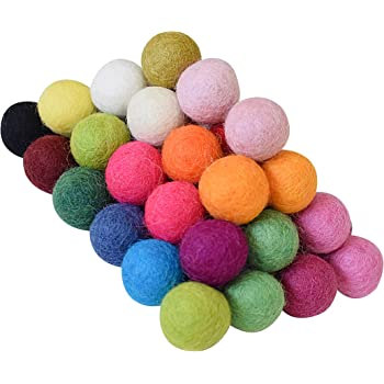 FELT BALLS BEADS /> MIX OR CHOOSE YOUR COLORS 15mm 50 pieces x 1,5cm