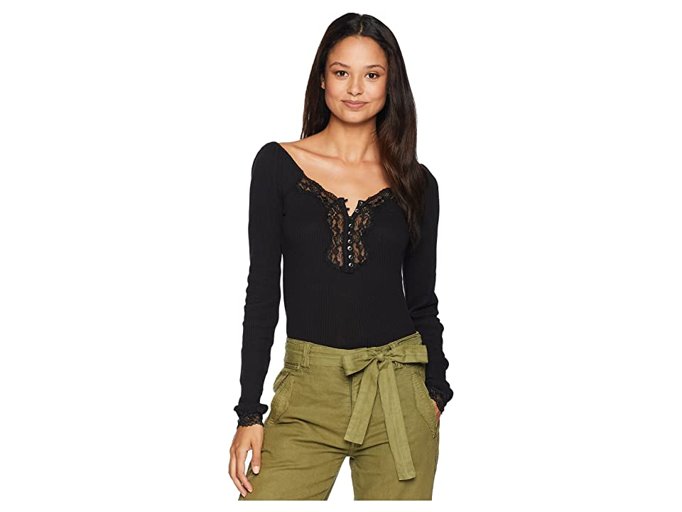 Free People To The West Tee (Black) Women