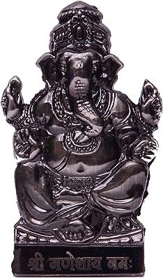 Purpledip Ganesha Ganapati Statue Idol For Table Top, Home Temple Mandir, Car Dashboard (10464)