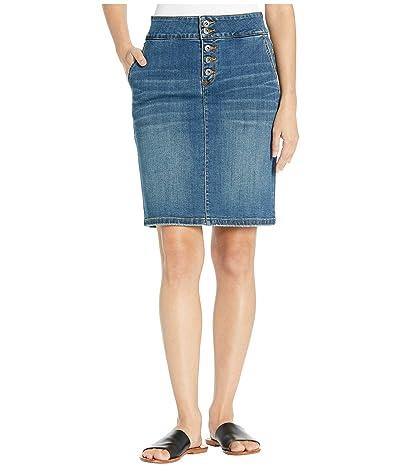 Prana Aubrey Denim Skirt (Antique Blue) Women