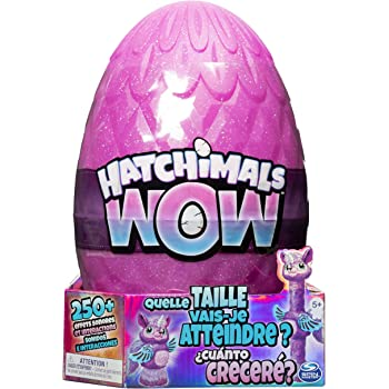 HATCHIMALS 6046989 WOW, Llalacorn 32 Inch (81.3 cm) Tall Interactive Hatchimal with Re-Hatchable Egg (Styles May Vary), Multicolour
