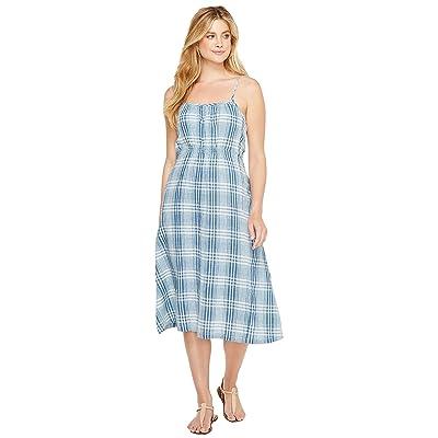 Dylan by True Grit Genuine Indigo Linens Bonita Slip Dress Denim Small Plaids (Denim) Women