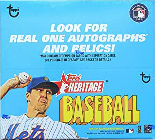 2021 Topps Heritage Baseball Retail Display Box 24 Packs