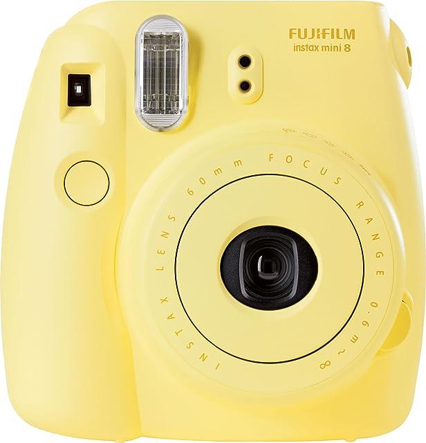 Fujifilm Instax Mini 8 - Cámara analógica instantánea (flash velocidad de obturación fija de 1/60 s) color amarillo