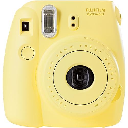 Fujifilm - Instax Mini 8 - Appareil Photo à Impression Instantanée - Taille d'image 46 x 62mm (L x H) - Jaune
