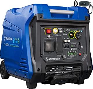 Westinghouse iGen4500DF Dual Fuel Inverter Generator - 3700 Rated Watts & 4500 Peak Watts - Gas &Propane Powered - Electric Start - CARB Compliant
