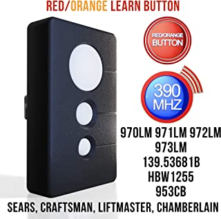 craftsman garage door opener 3 button remote manual
