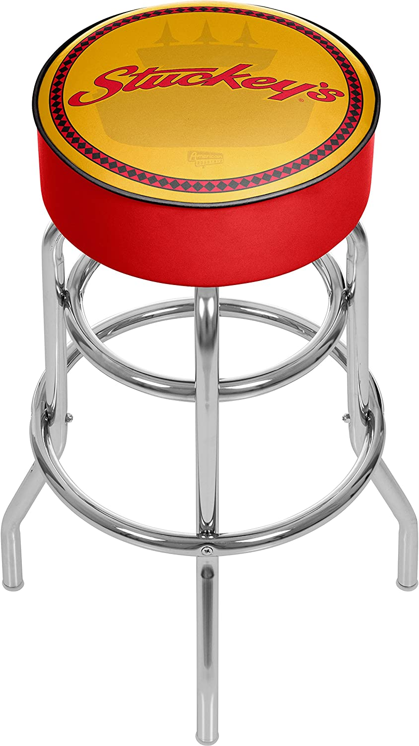 Trademark Global Stuckeys Watermark Padded Swivel Bar Stool
