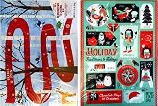 Trader Joe's 2018 Milk Chocolate Christmas Advent Calendar (Pack of 2 Assorted Designs)