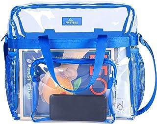 Transparente, durchsichtige Tragetasche für Arbeit, Sport, Spiele, für Stadien zugelassen, 30,5 x 30,5 x 15 cm