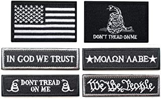 Bundle 6 Pieces USA American Fully Embroidered Tags Patch