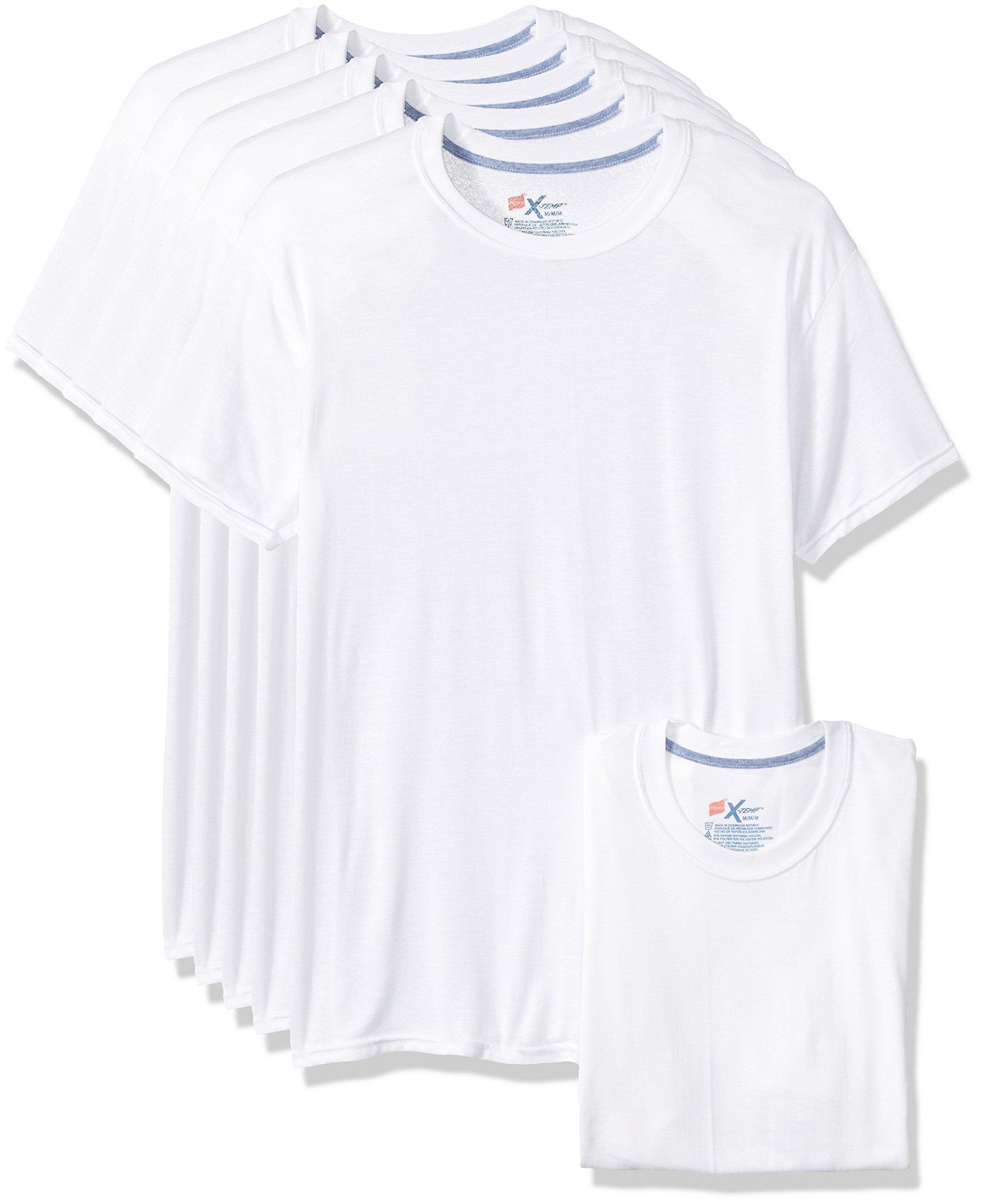 Hanes Men's 5-Pack X-Temp Comfort Cool Crewneck Undershirt