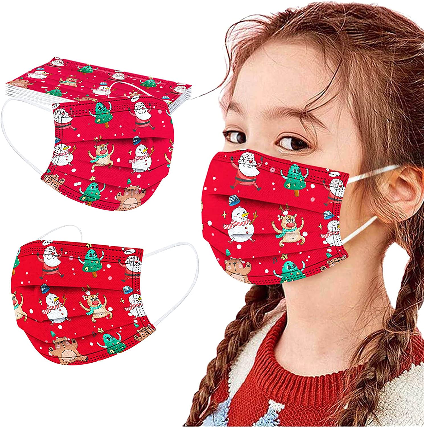 Ranking TOP18 Kids Disposable Face Masks 10 pack Max 40% OFF 3 Children mask La Christmas