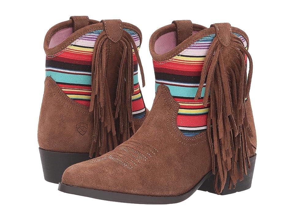 Ariat Kids Duchess (Toddler/Little Kid/Big Kid) (Powder Brown Suede/Pink Serape) Cowboy Boots