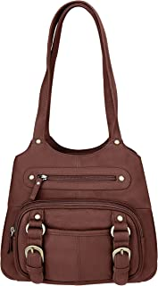 Concealed Carry Purse - Genuine Leather Locking CCW Gun Bag - Left and Right-Hand Draw