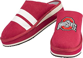 Zenzee NCAA College Spirit Wear Slip-On Mule Style Knit Platform Shoes for Women, Ohio State Buckeyes Spirit Wear, Women's Shoe Size 9, Perfect for Indoor and Outdoor Wear