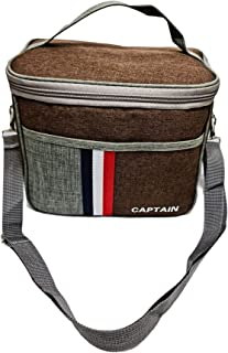 Lunch Bag Insulated Lunch Box Large Portable Cooler Tote bag for Men Women Adult for Office shoulder handbag coffee color ...