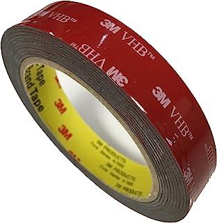 3M VHB 5952 – Cinta adhesiva de 3 metros (19 mm x 3 m), negra, de alto rendimiento y doble cara, para uniones fuertes y duraderas en interiores y exteriores