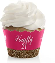 21st birthday cupcake wrappers
