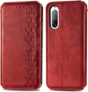 Hllycr Wallet Leather Case for Sony Xperia 10 II Flip Kickstand Case with Card Slots Protective Cover for Sony Xperia 10 I...