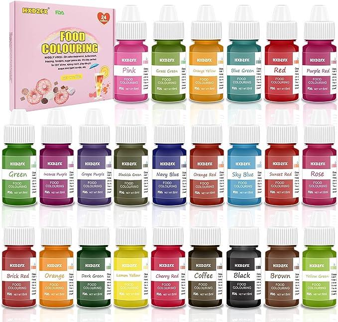 994 opinioni per Coloranti Alimentari- 24 Colori di Colorante Alimentare Liquido Concentrati per