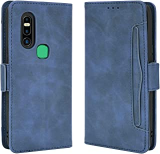 Card slot Case for Infinix S5 Pro,Leather Stand Wallet Flip Case Cover for Infinix S5 Pro,Retro magnetic Phone shell,Walle...