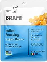 BRAMI Lupini Beans Snack, Sea Salt & Vinegar   7g Plant Protein, 0g Net Carbs   Vegan, Vegetarian, Keto, Mediterranean Diet   5.3 Ounce (8 Count)