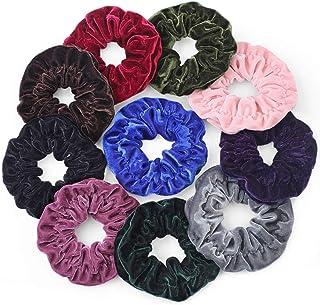 Gelite 10 Pack Big Scrunchies for Hair Super Large Velvet Scrunchies for Girls Women
