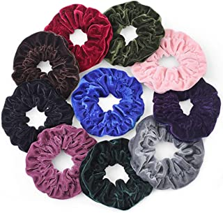 Gelite Big Velvet Scrunchies for Hair Scrunchies for Girls Women Large VSCO Scrunchies Pack of 10 Scrunchy with Storage Box