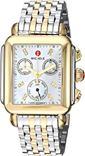 Women's Deco Diamond Two-Tone Stainless Steel Watch