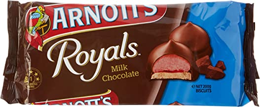 Arnott's Royals Milk Chocolate Biscuits, 200 Grams