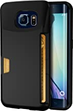 Smartish Galaxy S6 Edge Wallet Case - Wallet Slayer Vol. 1 - Ultra Slim Protective Credit Card ID Cover - (Silk) - Black Onyx