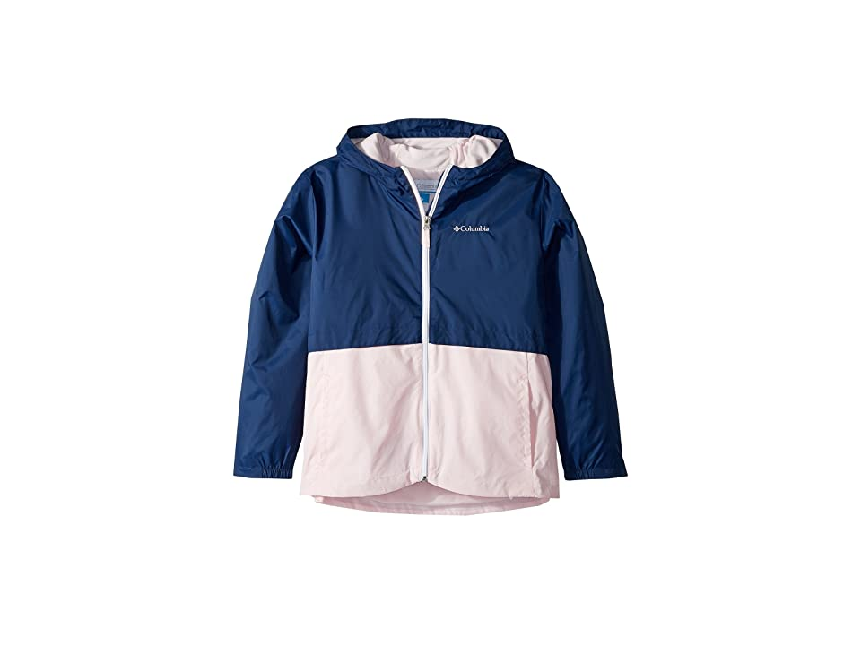 Columbia Kids Rain-Zillatm Jacket (Little Kids/Big Kids) (Carbon/Whitened Pink/White Logo) Girl