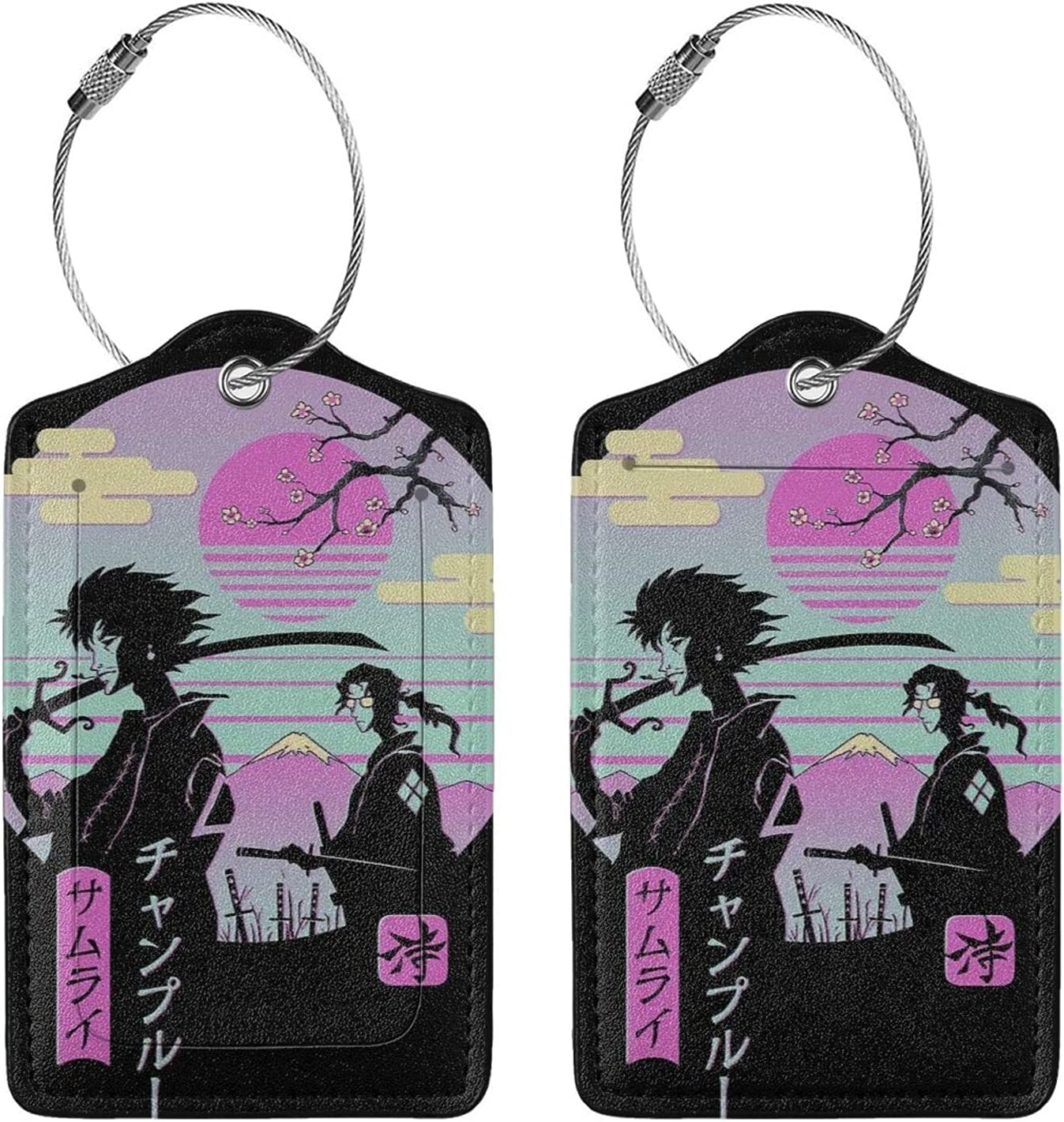 Samurai Champloo Anime Luggage Tag New Shipping Free Trave Max 53% OFF Carry-On Suitcase Cards