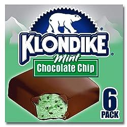 Klondike, Ice Cream Bars, Mint Chocolate Chip, 6 Count (Frozen)