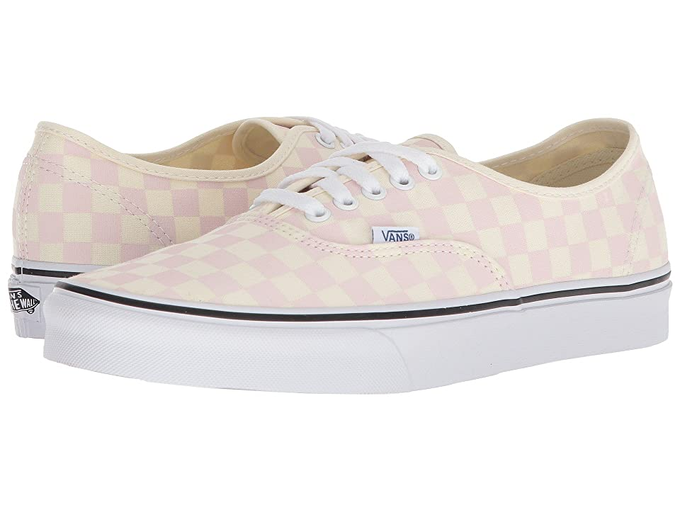 Vans Authentictm ((Checkerboard) Chalk Pink/Classic White) Skate Shoes