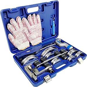 IBOSAD Reverse HVAC Refrigeration Ratchet Manual Copper Tube Bender & Pipe cutter Copper Tubing Set with Bending 3/4'', 7/8'', 3/4'', 1/2'', 5/8'', 1/4'' 5/16''