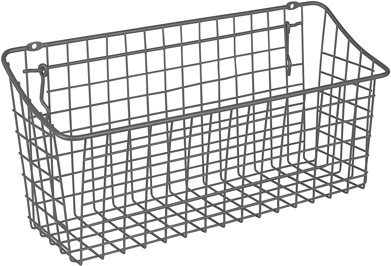 Versatile Wall Organizer for Tools /& Craft Supplies Industrial Gray Home /& Garage Storage XL Wire Basket for Slatwall /& Pegboard Spectrum Diversified 15 x 5 x 7 Pegboard /& Wall Mount Basket