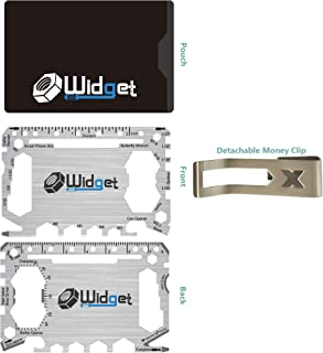 Multi purpose survival Pocket tool - 43 in 1 - credit card wallet size Ninja Multitool With Money Clip (Silver)