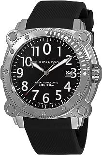 Hamilton Men's H78555333 Khaki Navy BelowZero Black Dial Watch