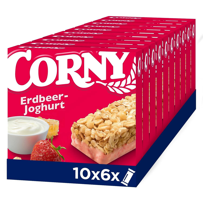 Corny Classic Erdbeer Joghurt, Müsliriegel, 8er Pack 8 x 8g