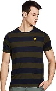 US Polo Association Men's Striped Regular fit T-Shirt