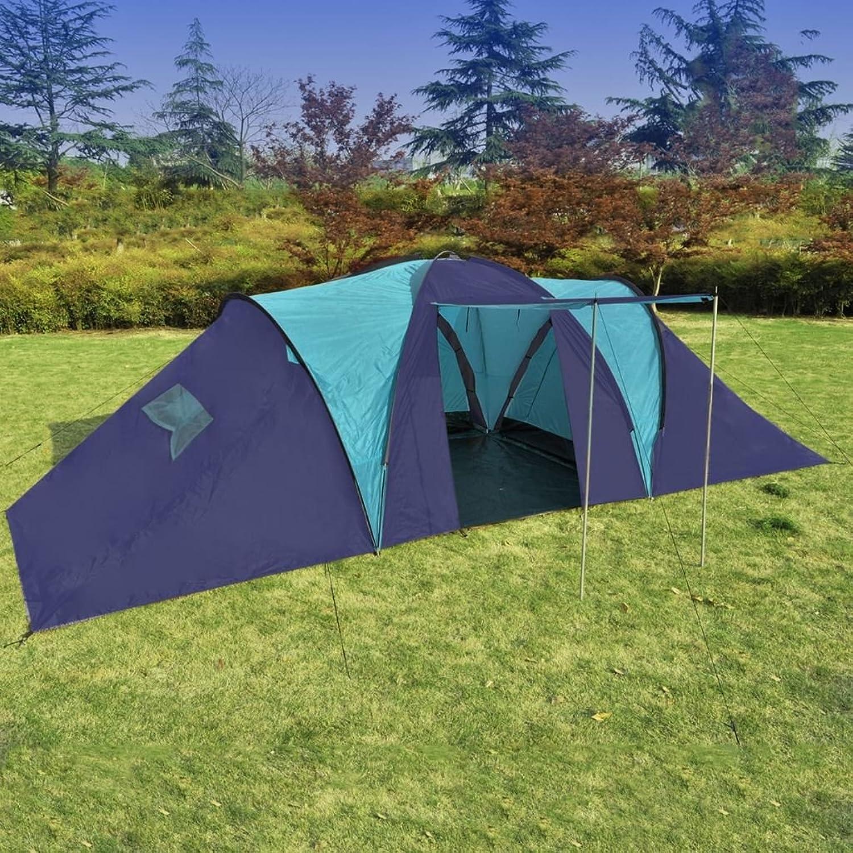 Lingjiushopping Campingzelt, 9Personen blau Suwasser ¨     und Blau Anzahl der Menschen  maximal 9Farbe  blau Suwasser ¨     und Blau