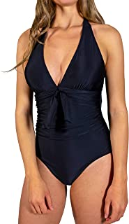Women's One Piece Swimsuit Tummy Control Alter V-Neck Monokini Sexy Backless Made with Recycled Materials