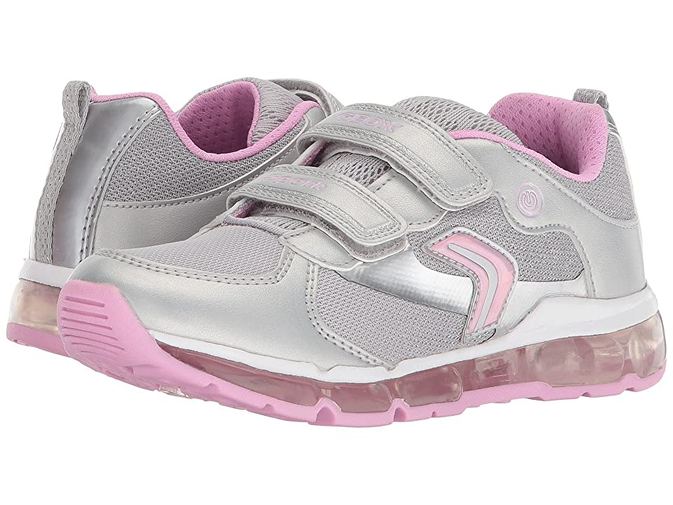 Geox Kids Android 14 (Little Kid/Big Kid) (Silver/Pink) Girl