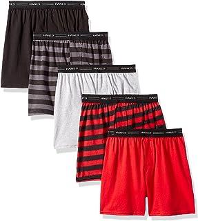 Hanes Boys' 5 Pack Comfort Flex Knit Boxer