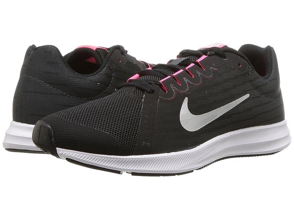 Nike Kids Downshifter 8 (Big Kid) (Black/Metallic Silver/Anthracite/White) Girls Shoes