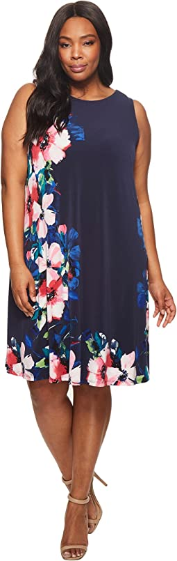 Plus Size Suzan Windell Floral Matte Jersey Dress