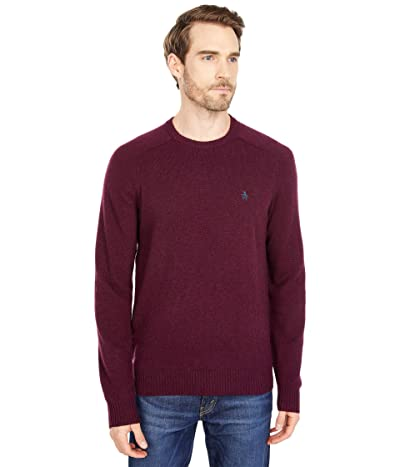 Original Penguin Wool Raglan Crew Sweater (Tawny Port) Men