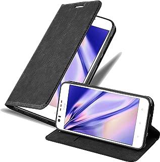Cadorabo Book Case Works with HTC Desire 10 Lifestyle/Desire 825 Wallet Etui Cover NIGHT BLACK DE-111342